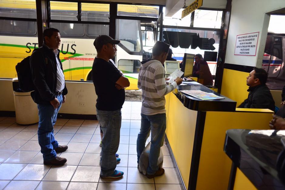 Las terminales de buses tienen menor afluencia que años anteriores. (Foto: Jesús Alfonso/Soy502)