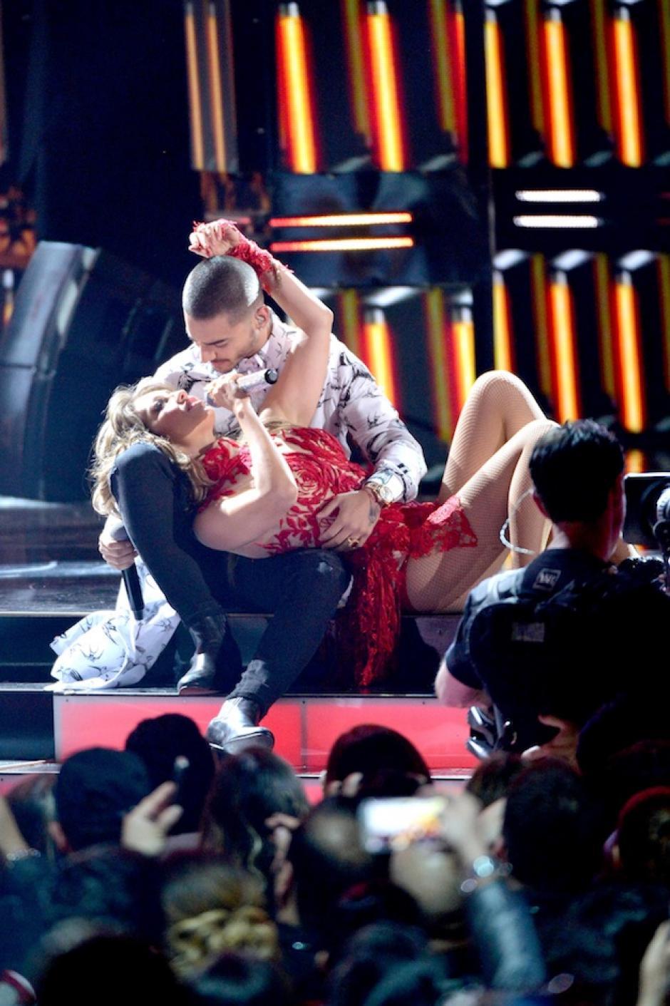 Thalía encendió motores en un especial dúo junto a Maluma. (Foto: Getty Images)