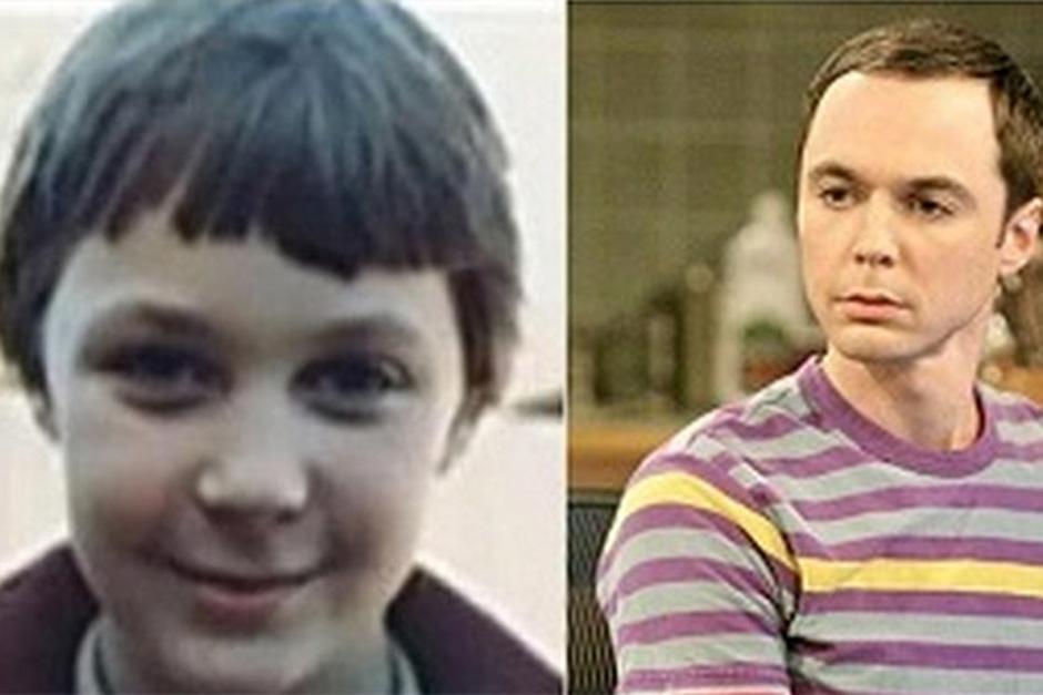"Jim Parsons, quien encarna a Sheldon Cooper en ""The Big Bang Theory"", a la edad de seis años"