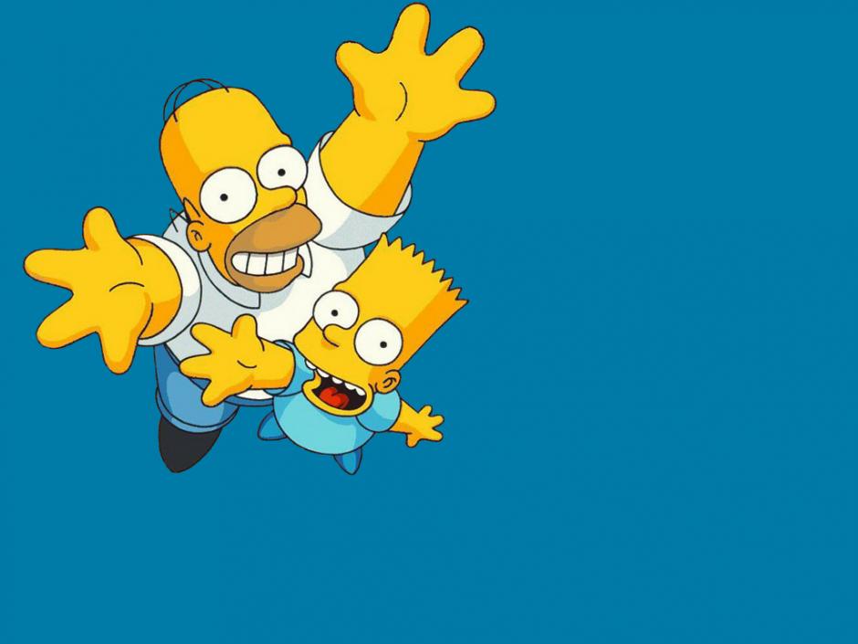 Homero junto a Bart, su único hijo varón. (Foto: fxp.co.il)