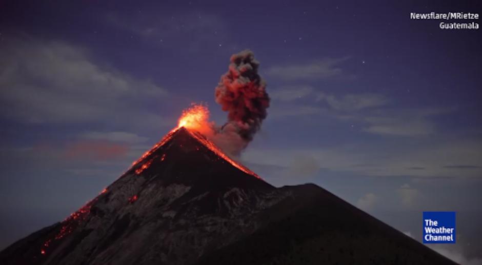 El volcán de Agua luce espectacular desde el aire. (Foto: The Weather Channel)