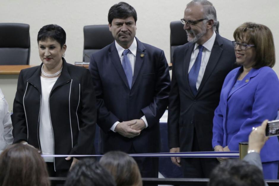 Durante la inauguración participaron los jefes del MP y la CICIG. (Foto: Alejandro Balán/Soy502)