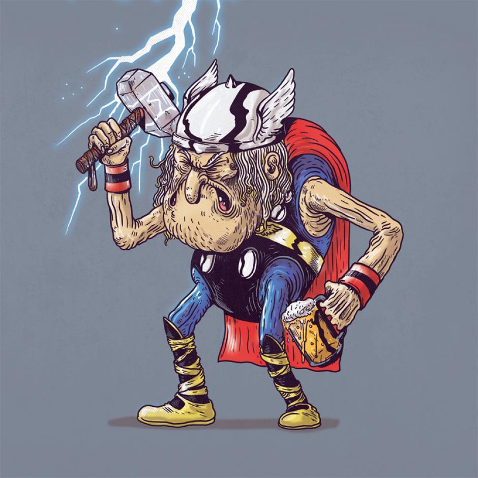 El mítico dios del trueno no ha perdido mucha de su actitud combatida a pesar de los años. (Foto: Alex Solis)