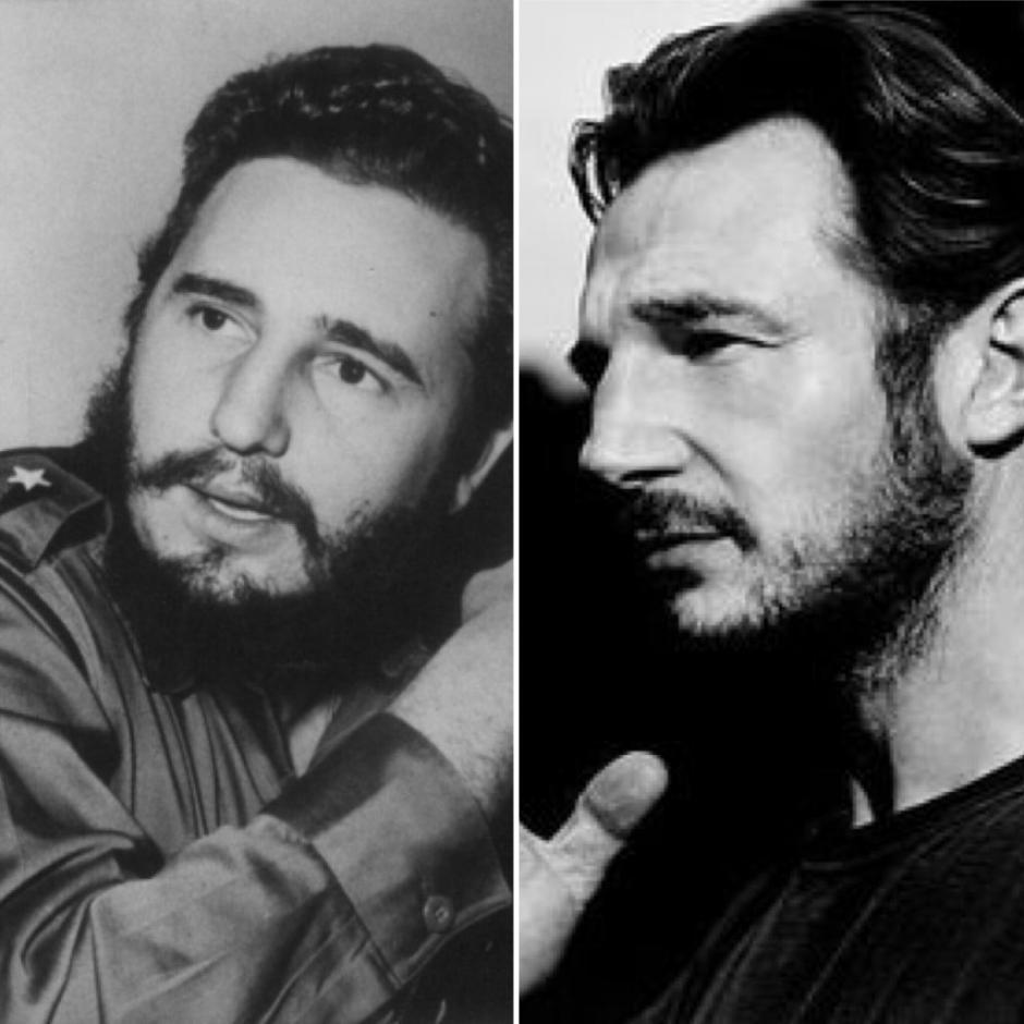¿Fidel Castro y Liam Neeson separados al nacer? (Foto: @tiagom0ur4/Twitter)