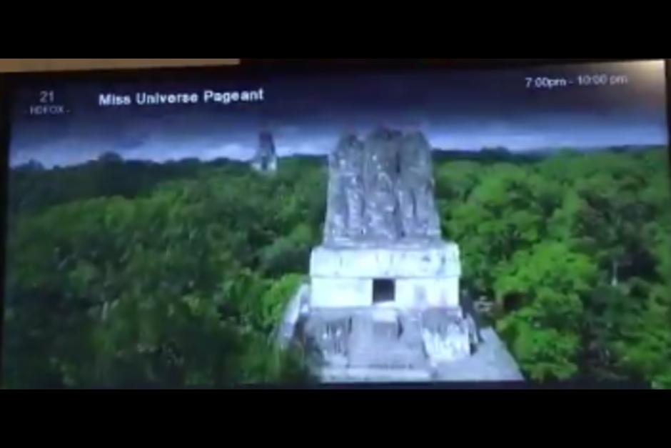 La imagen de Tikal fue usada en la presentación de Miss México, lo cual causó indignación en la población guatemalteca. (Foto: Archivo/Soy502)