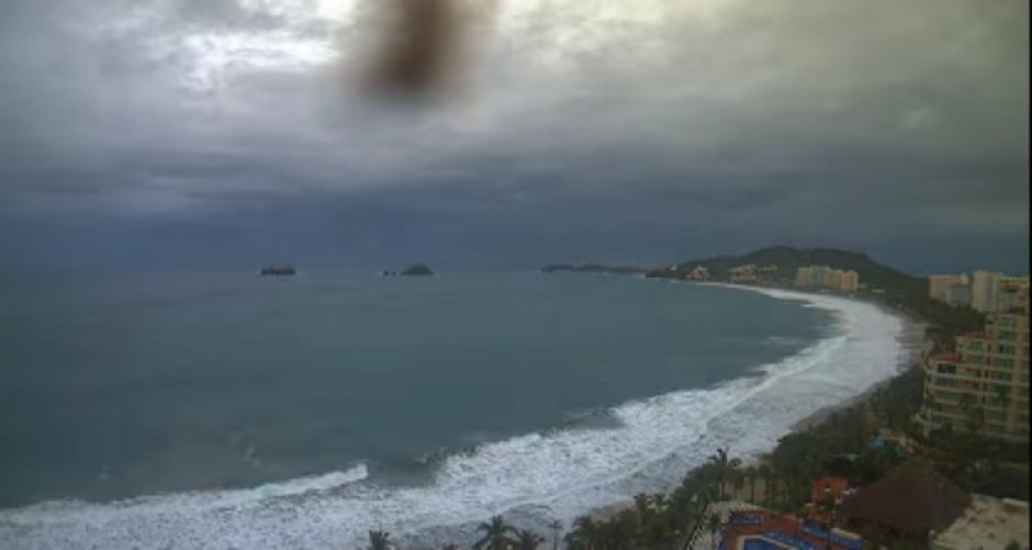 un video time-lapse muestra el poder del huracán Patricia sobre el pacífico mexicano.