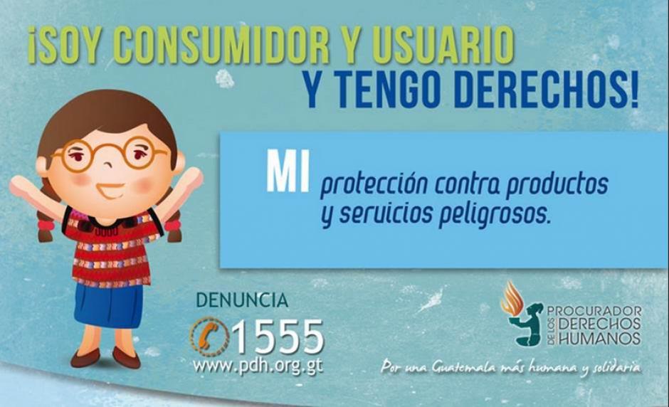 La PDH invita a los guatemaltecos a conocer sus derechos como consumidores. (Foto PDH)