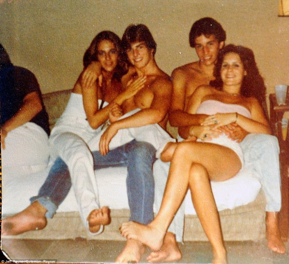 Un retrato de Tom Cruise, con su primera novia: Diane Cox. (Foto: Mail Online)