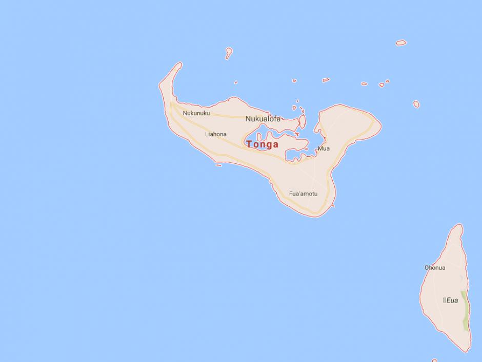 Este es Tonga el país de Pita. (Foto: google maps)