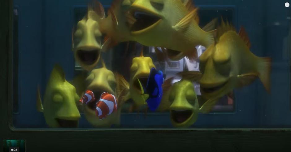 Decenas de peces encuentra Dory en su camino. (Captura de pantalla: TheEllenShow/Youtube)
