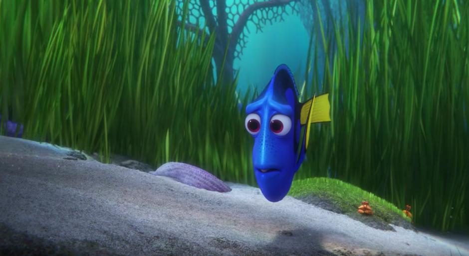 Dory busca a su familia. (Captura de pantalla: TheEllenShow/Youtube)