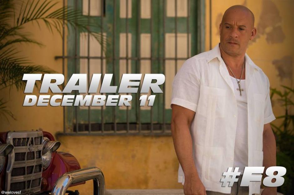 Con esta imagen, Vin Diesel anunció el primer trailer de Rápido y Furioso 8. (Foto: Vin Diesel/Facebook)