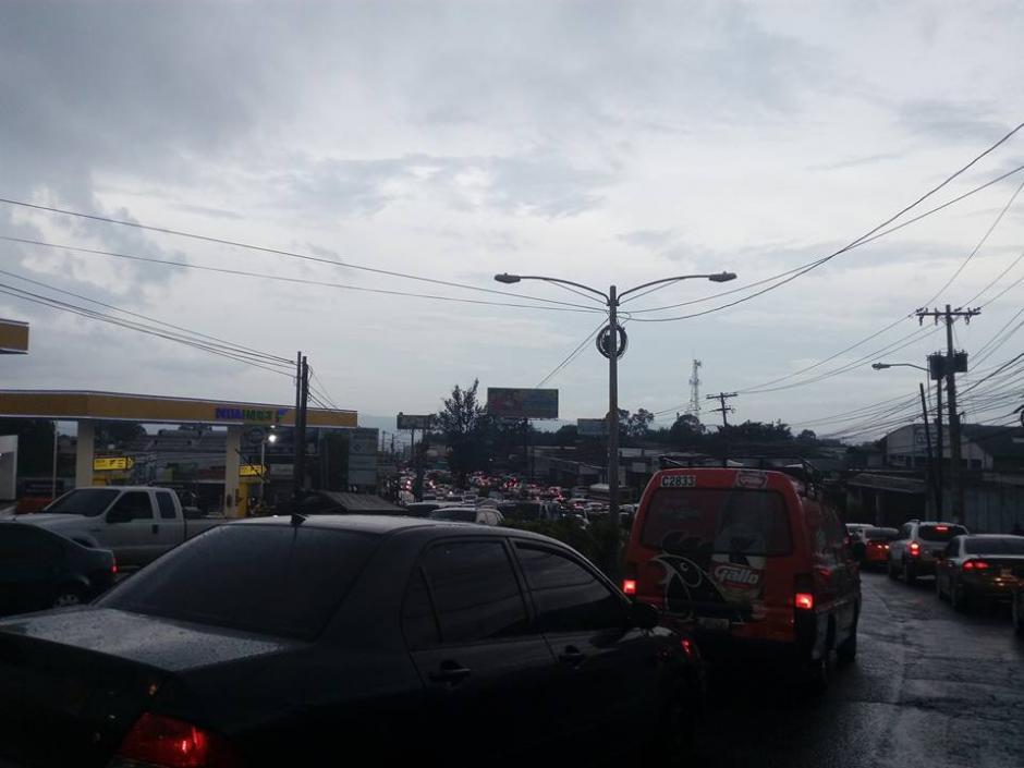 El tránsito en los sectores aledaños estuvo complicado. (Foto: Somos Ciudad San Cristóbal/Facebook)