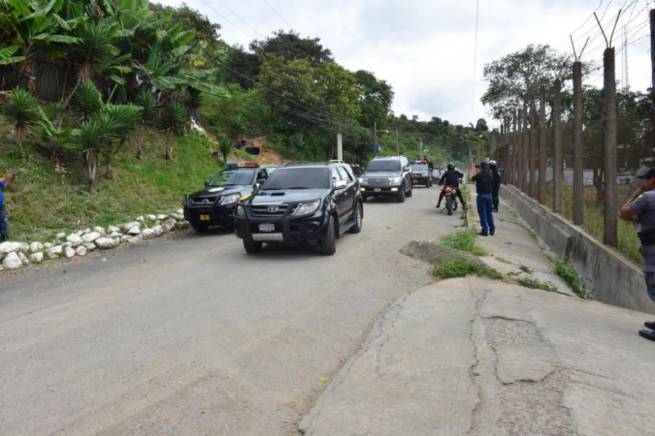 Baldetti llegó en la caravana en menos de 15 minutos porque la movilidad fue bastante rápida. (Foto: Jesús Alfonso/Soy502)