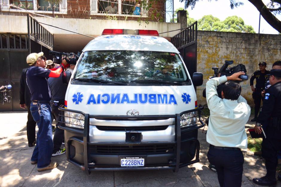 José Efraín Ríos Montt fue trasladado en una ambulancia de Alerta Médica.(Foto: Jesús Alfonso/Soy502)