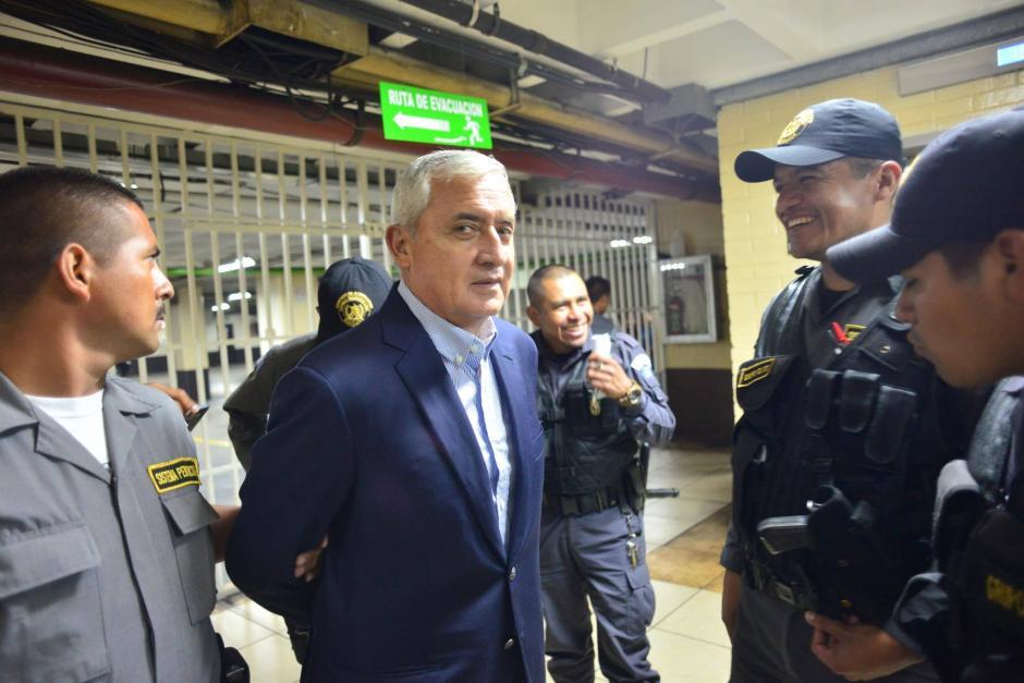 El exmandatario Pérez Molina guarda prisión en el cuartel de Mariscal Zavala. (Foto: Jesús Alfonso/Soy502)