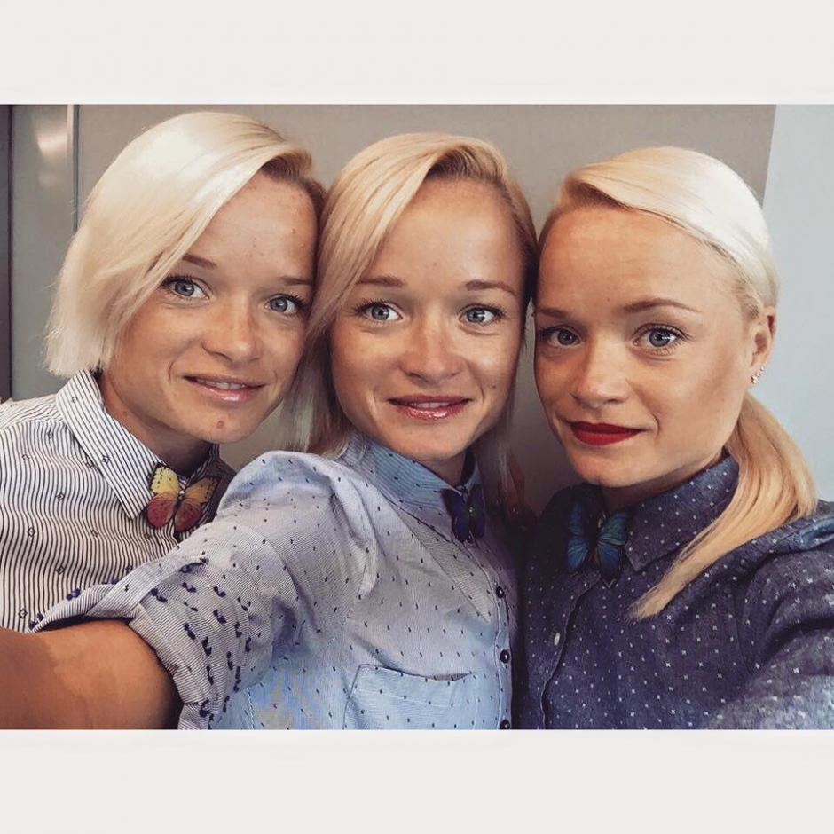 Las hermanas Leila, Lily y Liina Liuk de Estonia son las primeras trillizas en unos Juegos Olímpicos. (Foto: Twitter)
