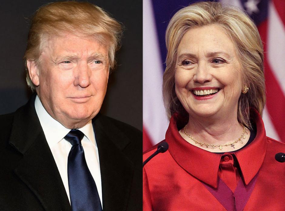 Donald Trump y Hillary Clinton buscan el puesto de honor en la Casa Blanca.