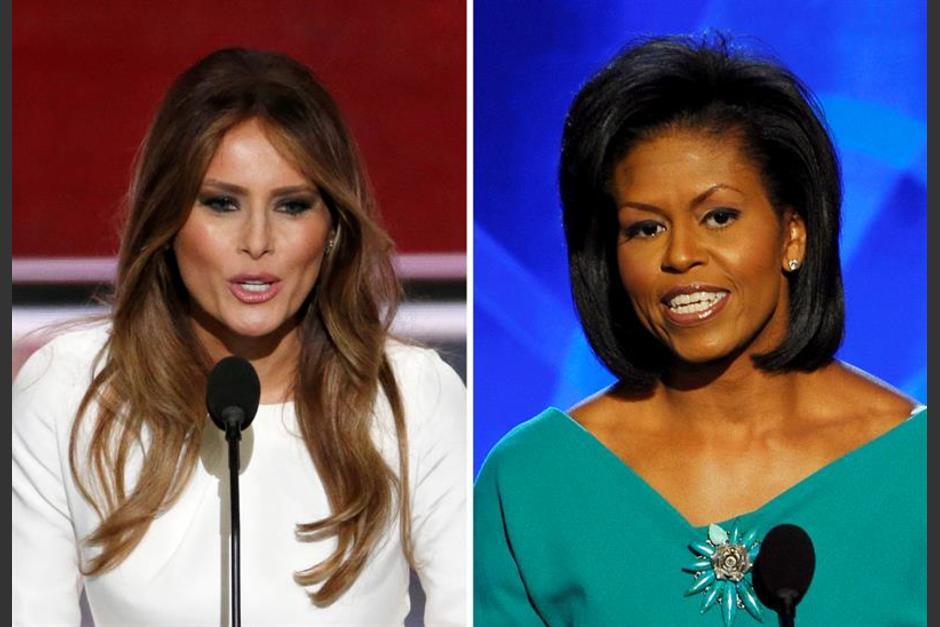"Critican que Melania Trump ""plagió"" parte del discurso de Michelle Obama. (Foto: Efe)"