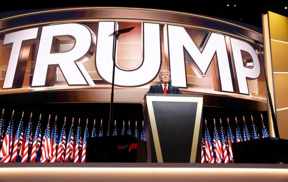 Trump ofreció su discurso durante el cierre de la Convención Nacional Republicana. (Foto: Efe)