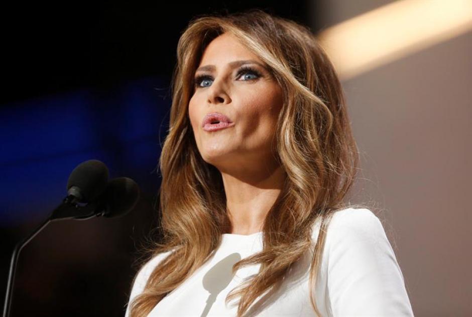 La esposa del precandidato presidencial republicano Donald Trump, dio su primer discurso. (Foto: Efe)