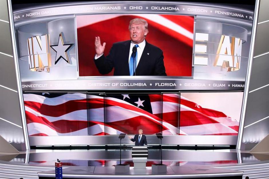 El precandidato presidencial Donald Trump habló en la Convención Republicana. (Foto: Efe)