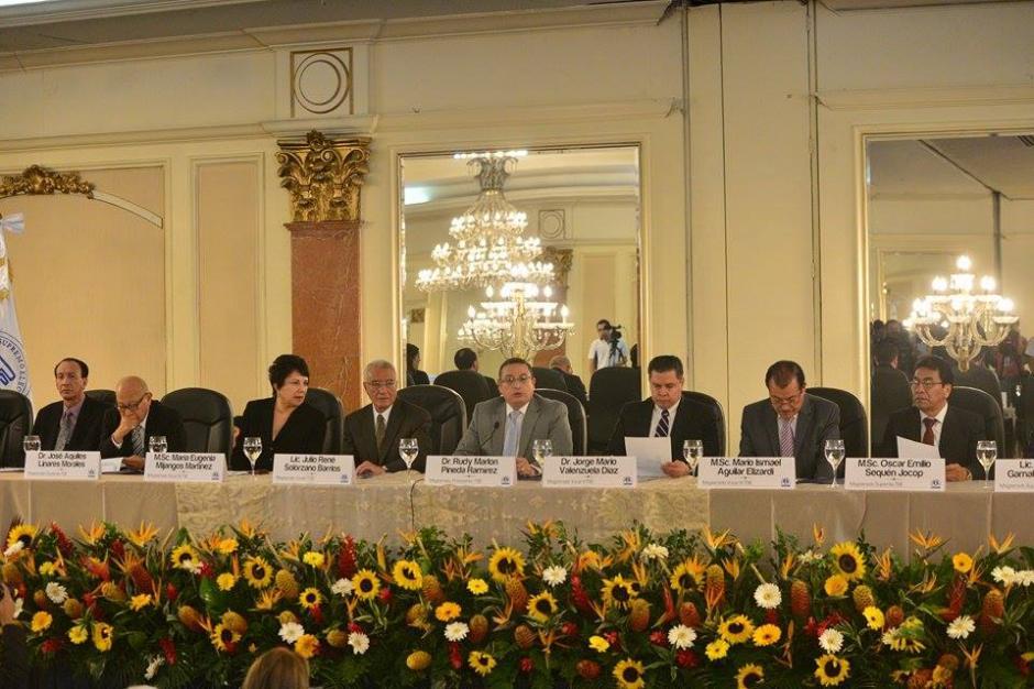 EL pleno de magistrados del TSE agradecieron a la sociedad por acudir a las urnas. (Foto: Wilder López/Soy502)