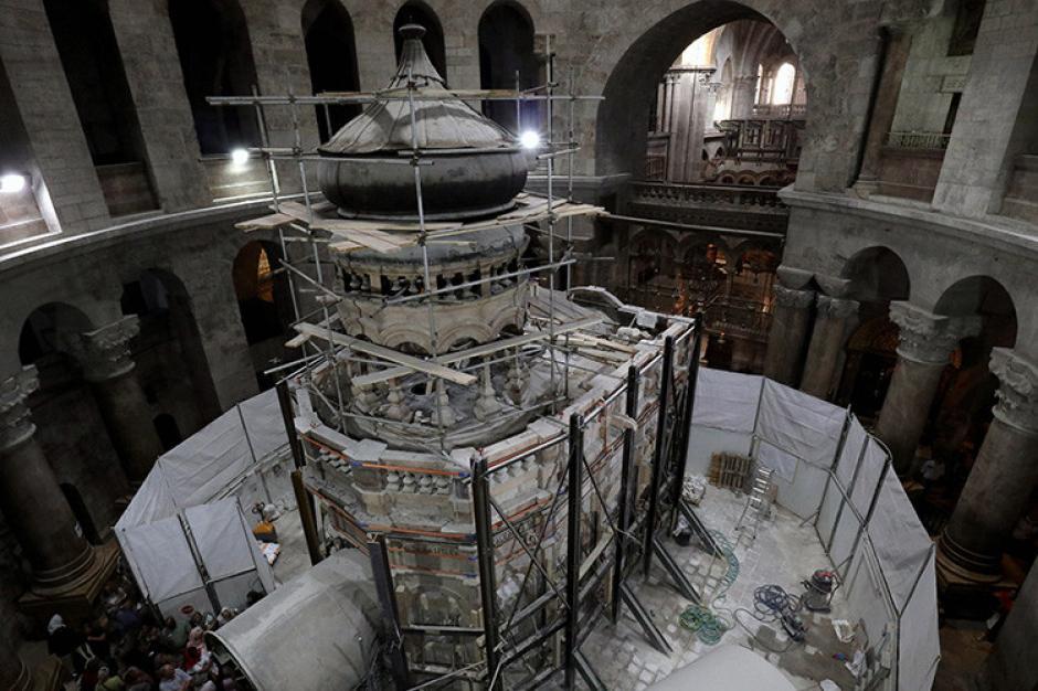 La tumba de Jesucristo fue abierta el pasado viernes. (Foto: RT)