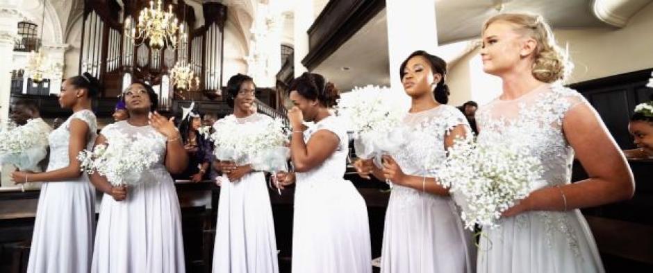 Hasta las damas de honor estaban llorando desconsoladas (Foto: noticias.yahoo.com)