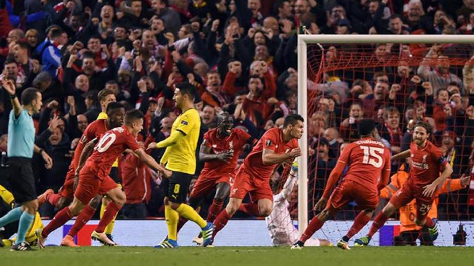 El Liverpool volvió a revivir sus viejas glorias. (Foto: tycsports.com)