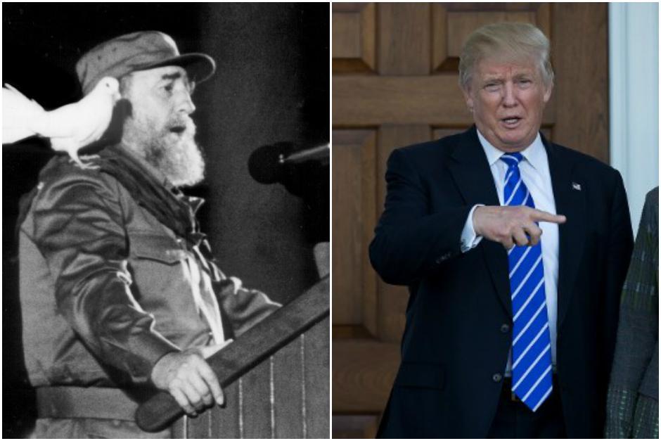 Donald Trump encendió las redes sociales al expresarse sobre la muerte de Fidel Castro. (Fotos: AFP)