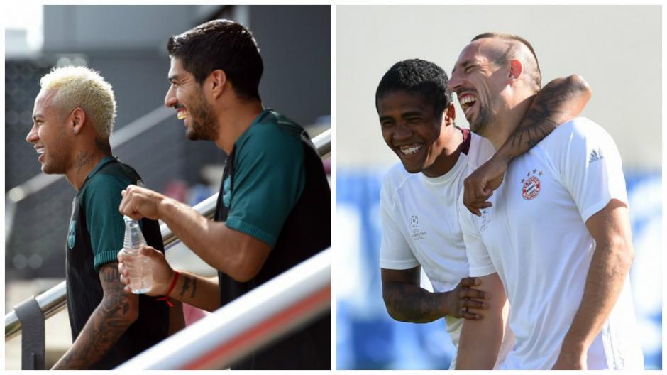 Barcelona y Bayern inician su camino en la Champions. (Fotos: AFP)