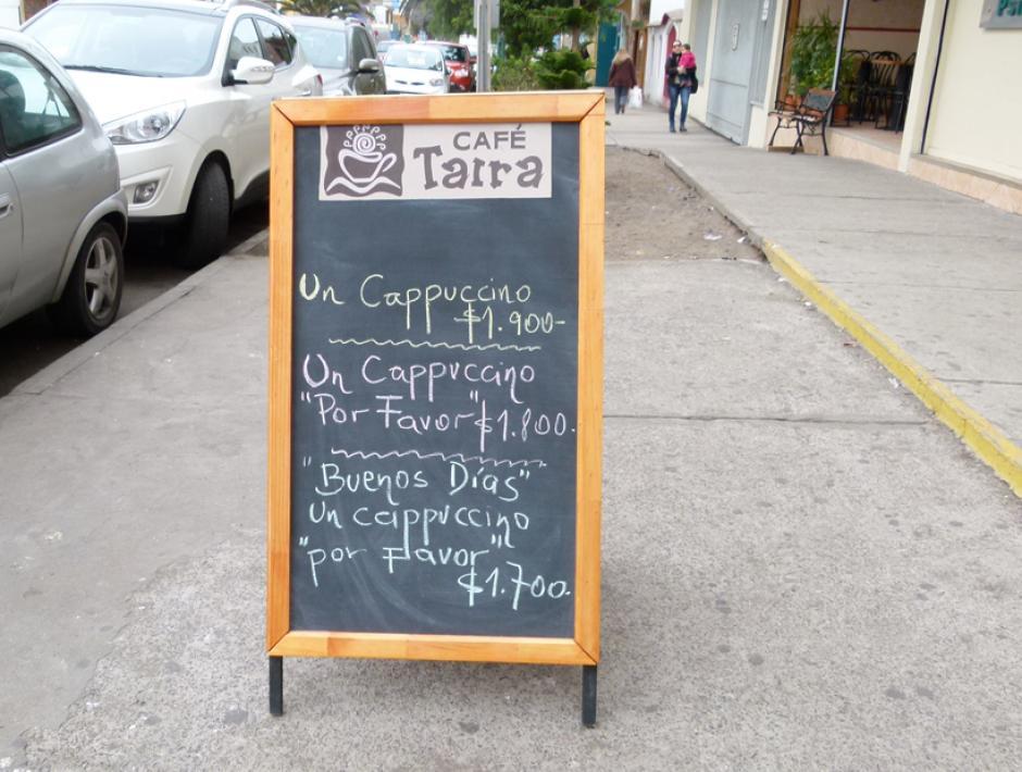 Un restaurante chileno también ha puesto un rótulo para poner en práctica las normas de cortesía. (Foto: soychile.cl)