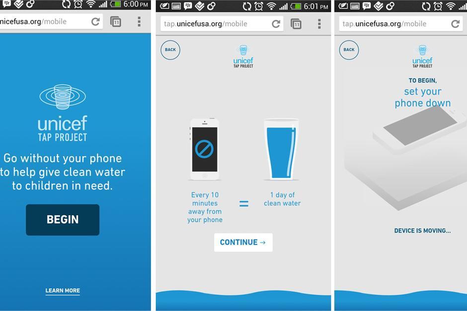 """El """"UNICEF Tap Project"""" podría llevar agua potable a miles de personas en el mundo con tu ayuda."""