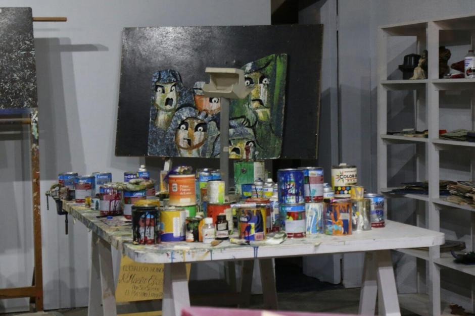 Estes espacio era su taller, donde día a día creaba sus obras. (Foto: Alejandro Balan/Soy502)