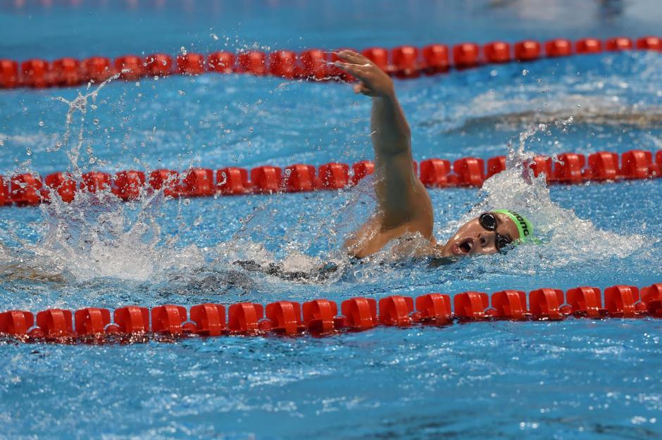 Valerie Gruest tuvo su primera experiencia olímpica en la prueba de 400 metros libres. (Foto: Sergio Muñoz/Enviado de ACD)