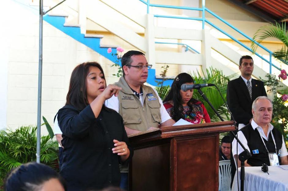El magistrado presidente del TSE Rudy Marlon Pineda emitió su discurso previo a la inauguración de la jornada electoral de segunda vuelta. (Foto: Alejandro Balán)