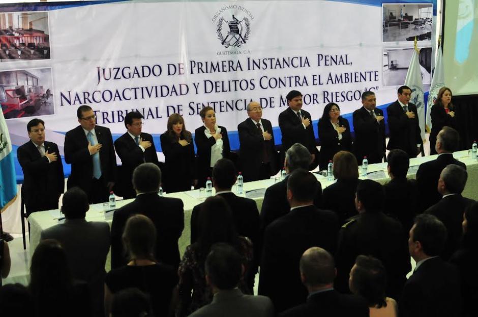 Inauguran Juzgado de Primera Instancia Penal, Narcoactividad y Delitos Contra el Ambiente C. (Foto: Alejandro Balán/Soy502)
