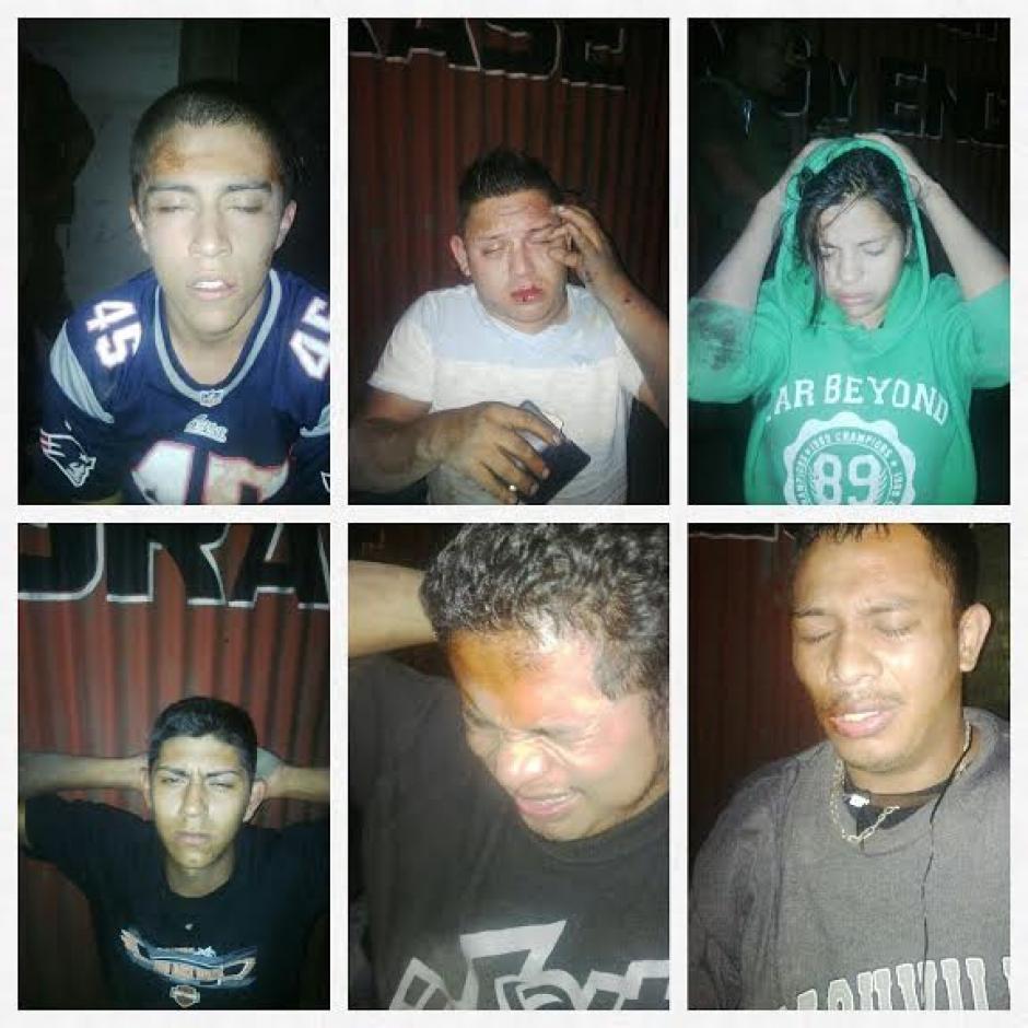 Seis capturados tras ataque armado en la Colonia El Milagro, zona 6 de Mixco en el que dos adultos y un menor de edad fallecieron. (Foto: Policía Nacional Civil)