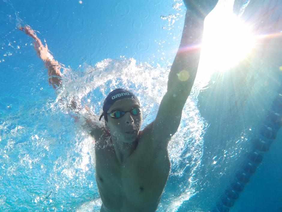 Luis Carlos Martínez fue medallista en los Juegos Centroamericanos y del Caribe, en Veracruz. También participó en Toronto 2015. Ahora está clasificado con marca A para los Juegos Olímpicos de Río 2016, en agosto próximo.(Foto: Diego Galiano/Nuestro Diario)