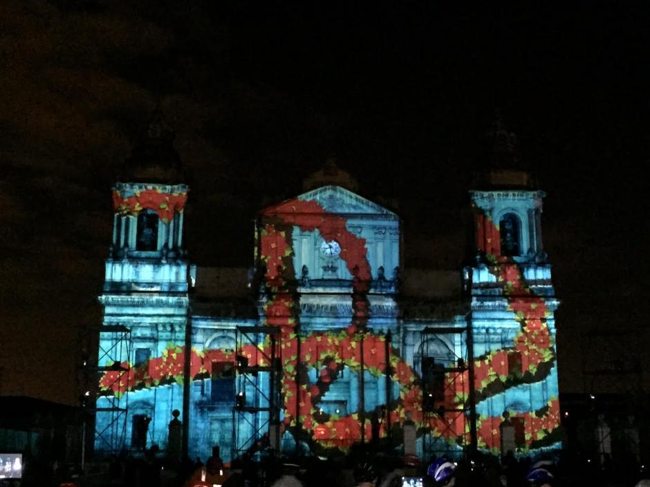 """El """"Mapping"""" fue una de las atracciones del Festival Navideño de la Sexta. (Foto: Gustavo Méndez/Soy502)"""