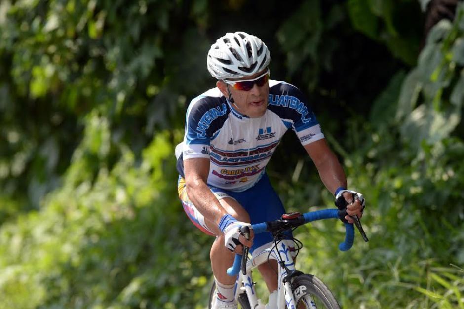Manuel Rodas durante la última etapa de la competencia