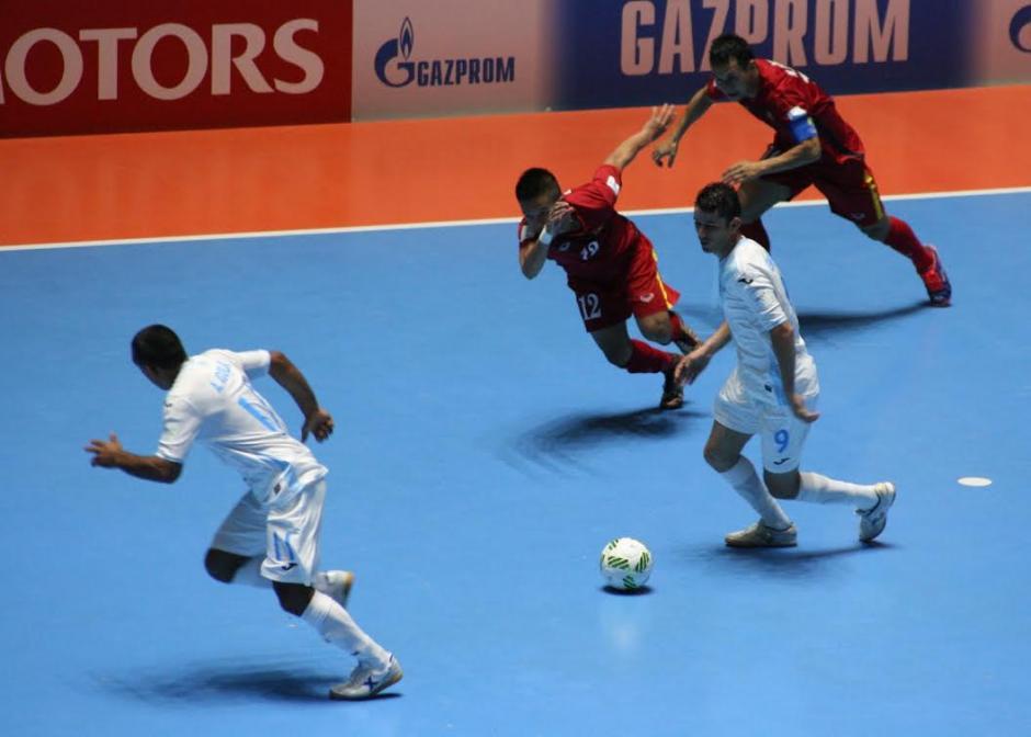 Guatemala debutó en el Mundial de Futsal Colombia 2016. (Foto:Fedefut)