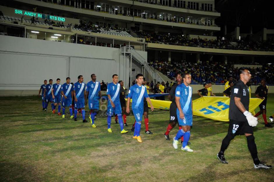 La Bicolor por primera vez en su historia contra Antigua y Barbuda en la eminatoria mundialista. (Foto: Aldo Martínez/Nuestro Diario)