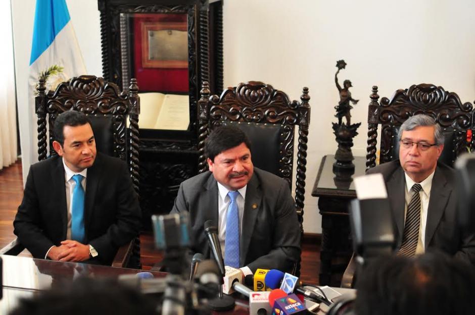 El Presidente y Vicepresidente electos se reunieron con Rafael Rojas Presidente de la Corte Suprema de Justicia. (Foto: Alejandro Balán/Soy502)
