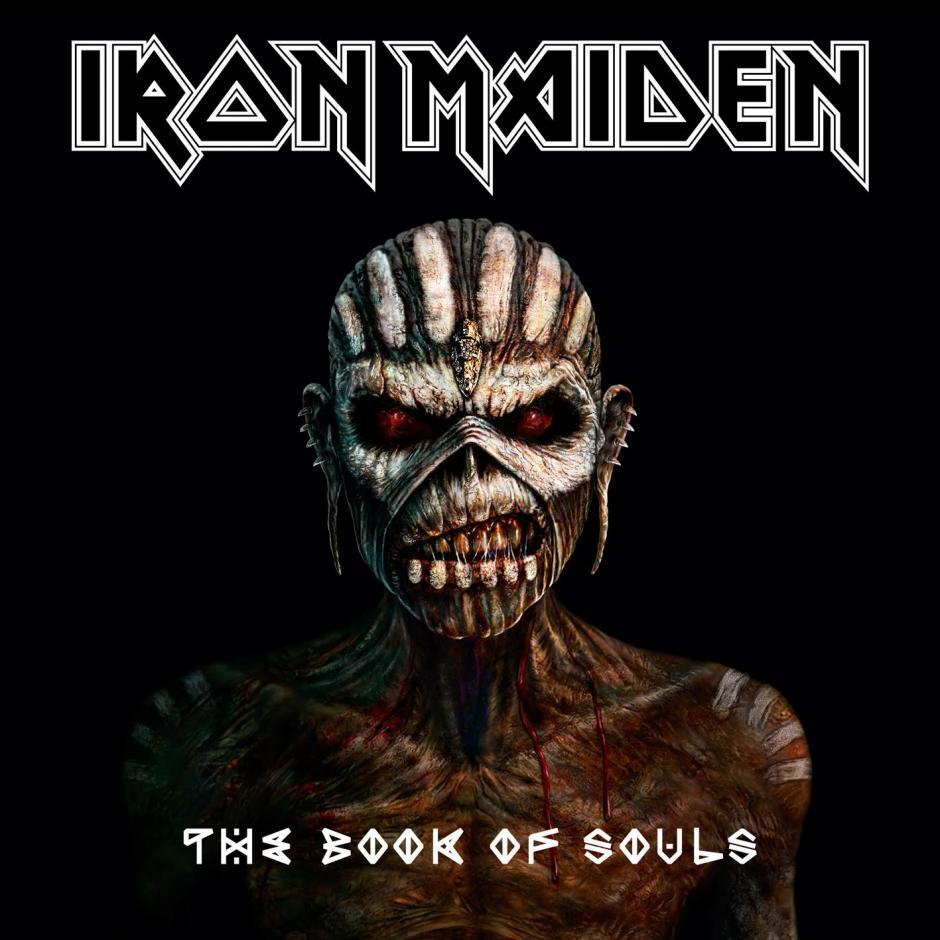 La portada del disco más reciente de Iron Maiden