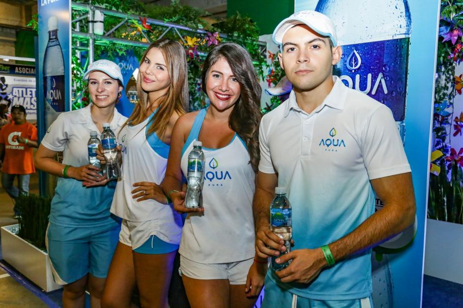 El stand de Aqua es un ejemplo de reciclaje. (Foto: cortesía Aqua)
