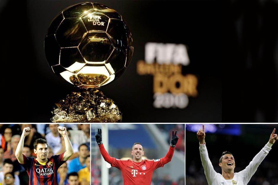 Lionel Messi, Franck Ribéry y Cristiano Ronaldo son los finalistas por el Balón de Oro 2013.