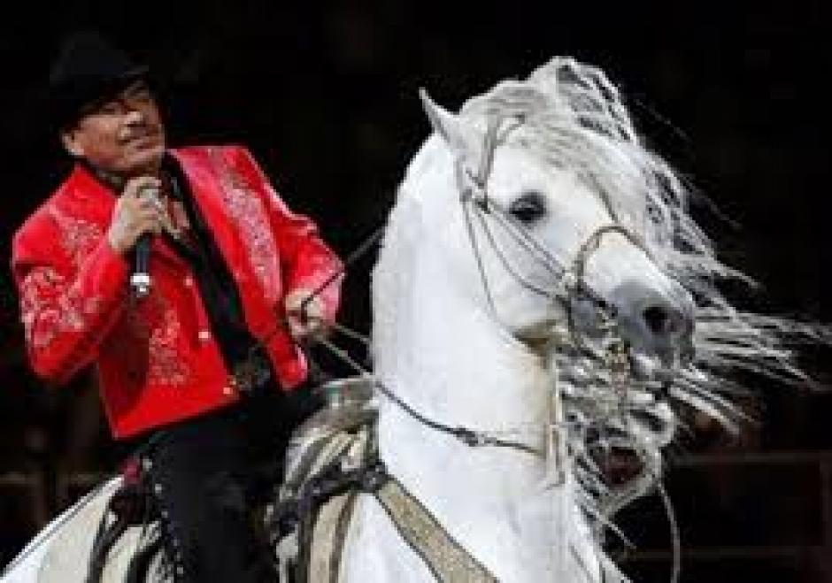 """""""Padrino"""", el caballo de Joan Sebastian."""
