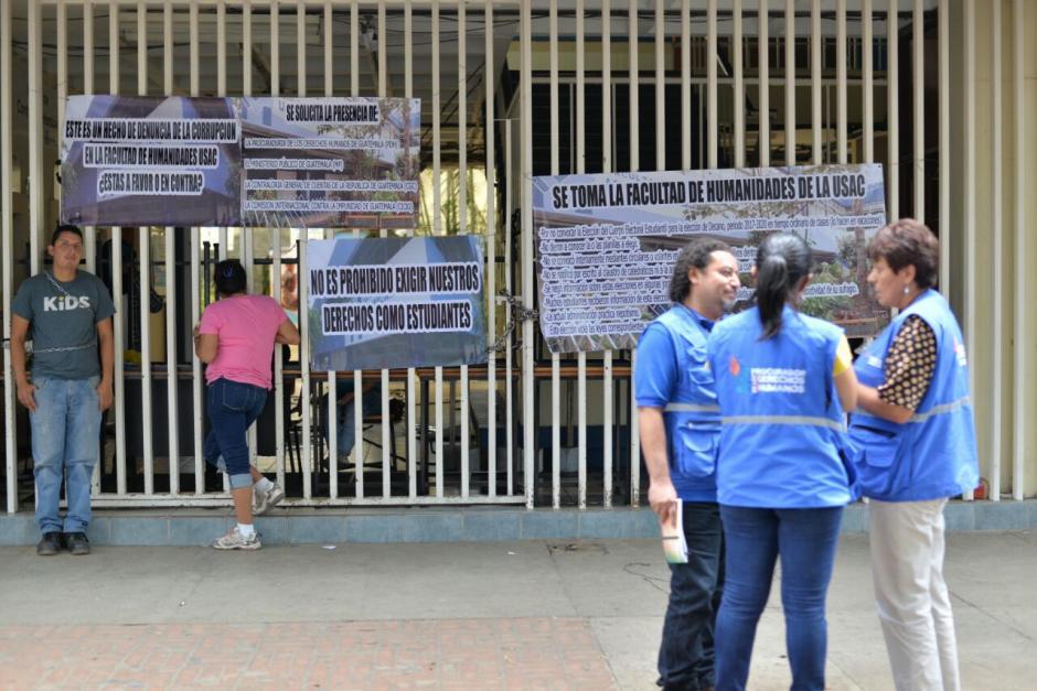 La PDH se presentó a la Usac. (Foto: Wilder López/Soy502)
